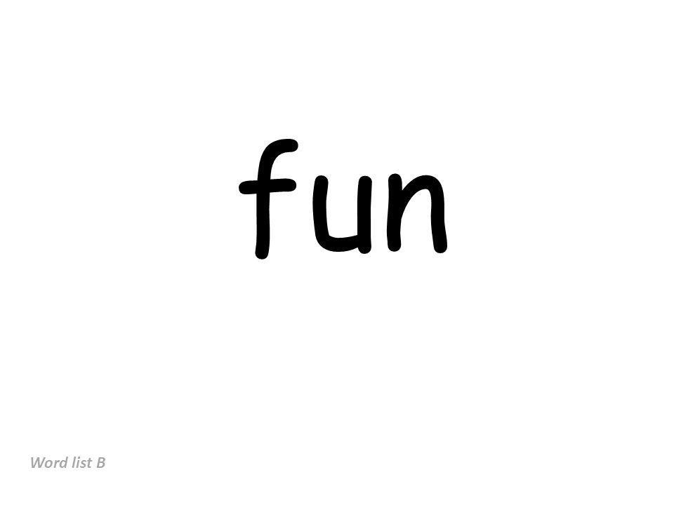 fun Word list B