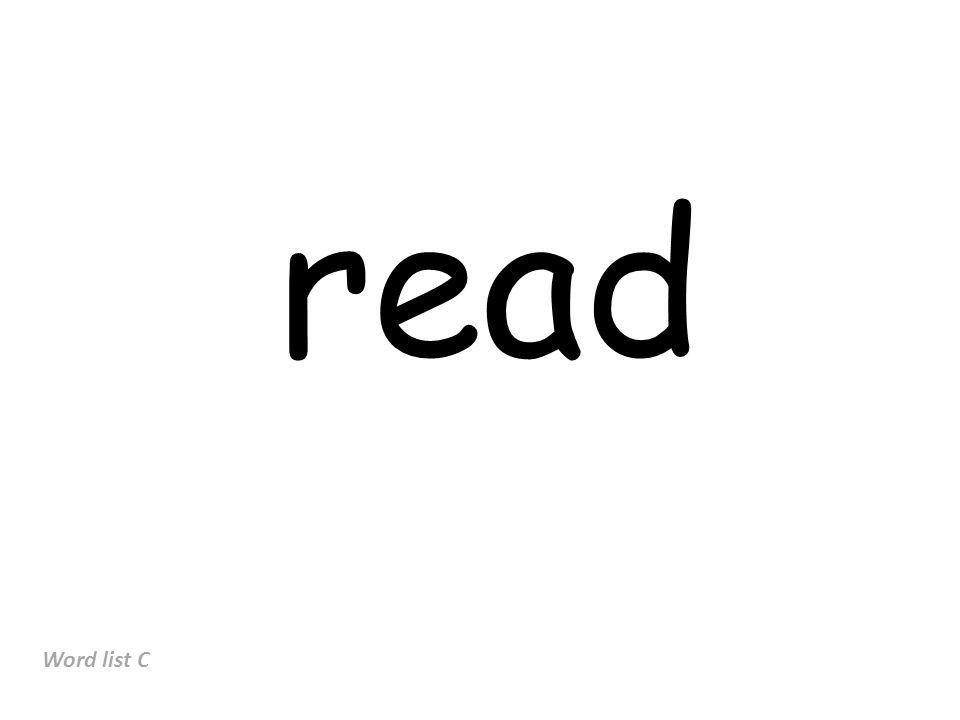 read Word list C
