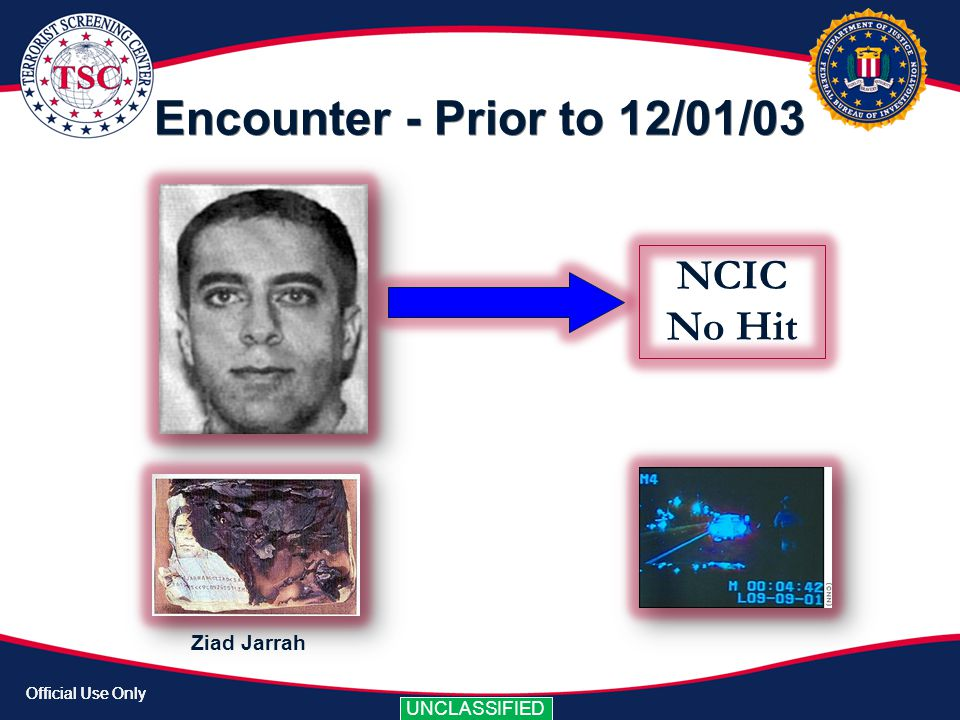 Encounter - Prior to 12/01/03 NCIC No Hit