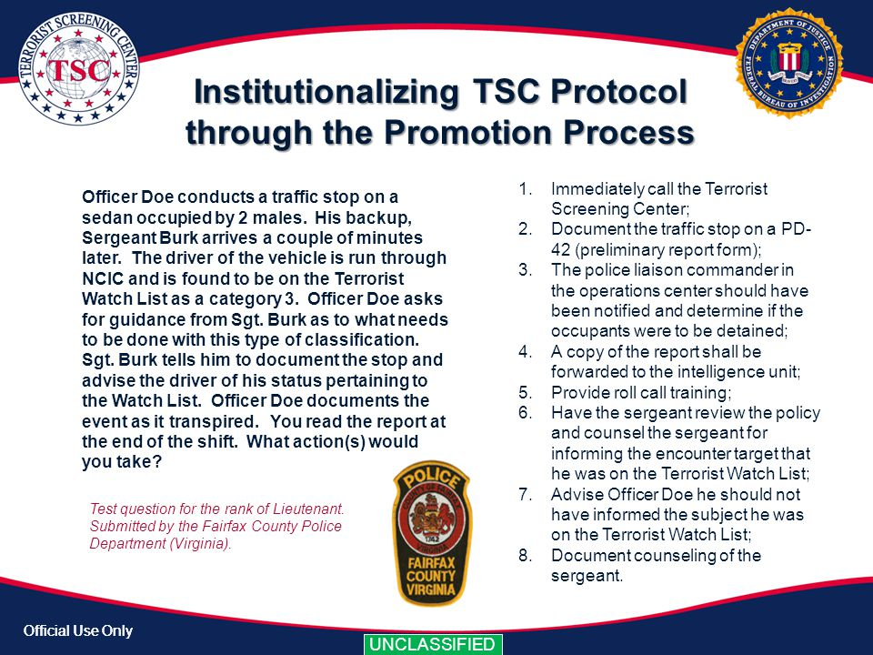 Institutionalizing TSC Protocol through the Promotion Process