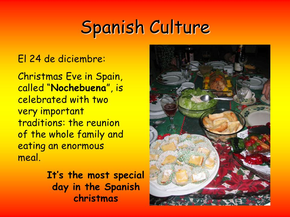 It's the most special day in the Spanish christmas