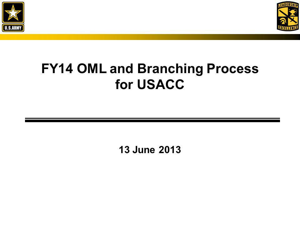 FY14 OML and Branching Process for USACC