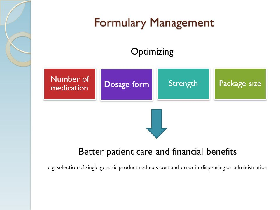 Better patient care and financial benefits