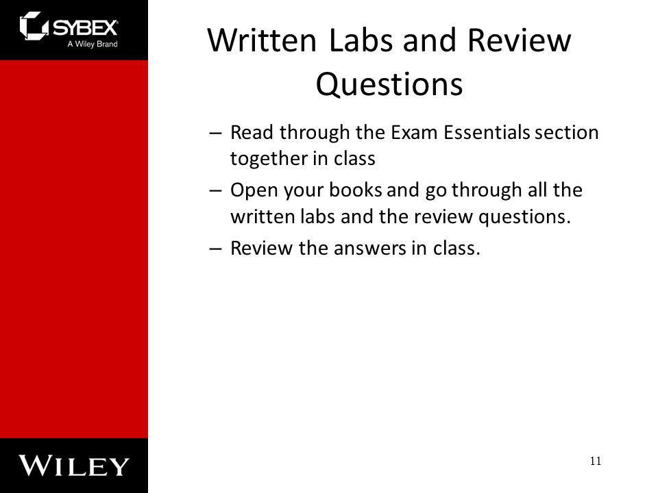 Written Labs and Review Questions