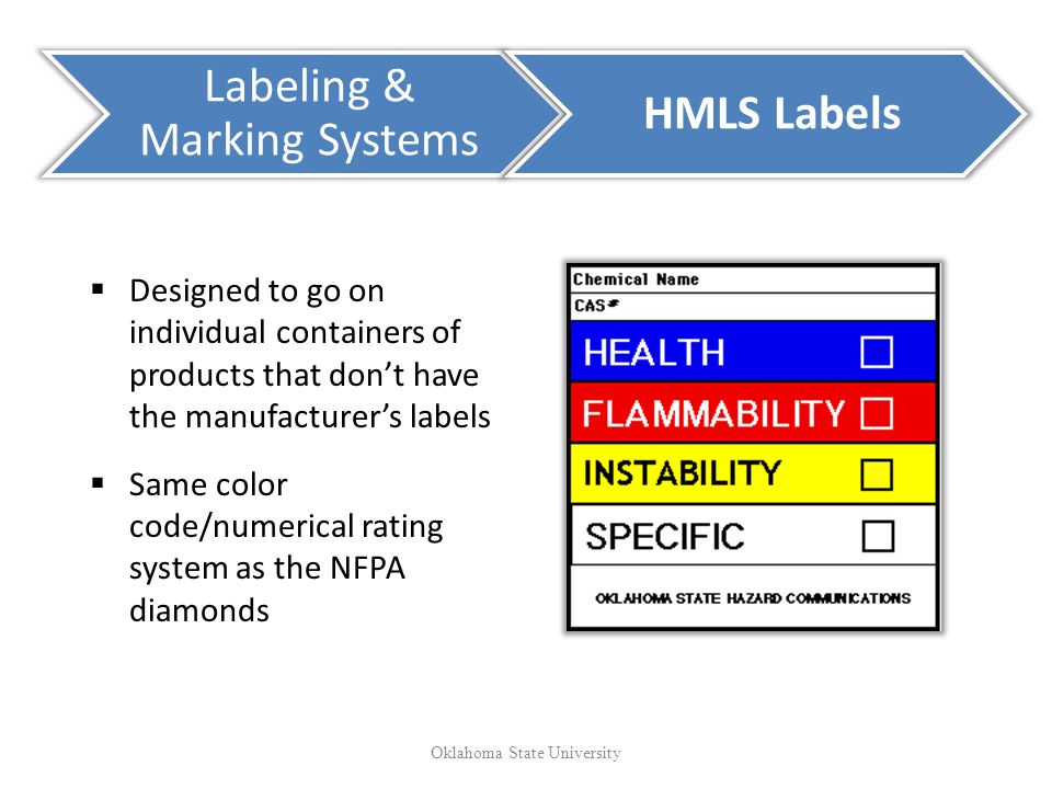 Labeling & Marking Systems HMLS Labels