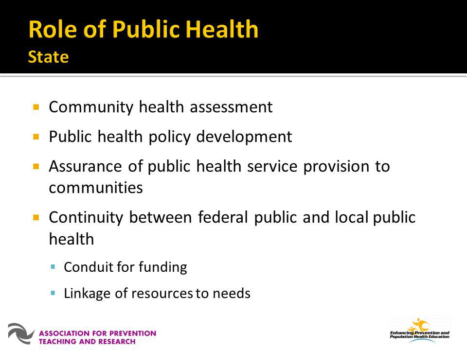 Role of Public Health State