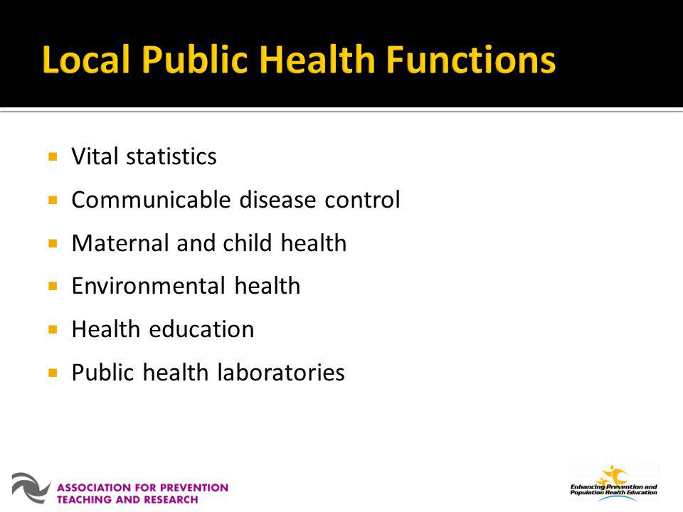 Local Public Health Functions