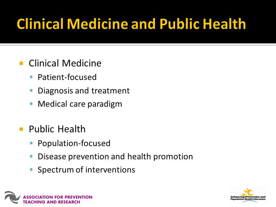 Clinical Medicine and Public Health