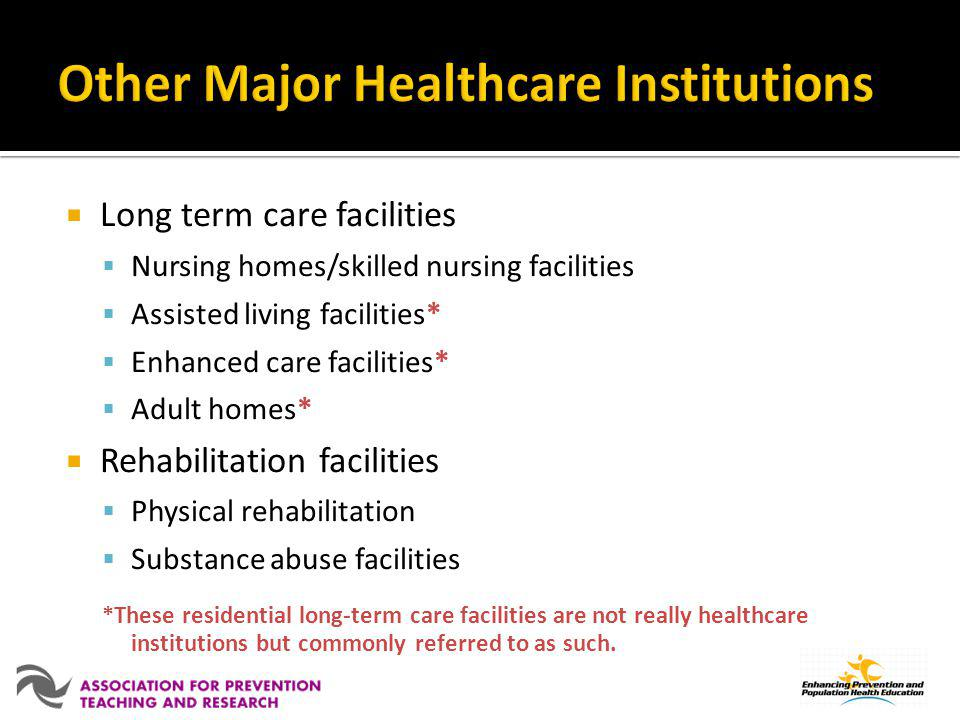 Other Major Healthcare Institutions