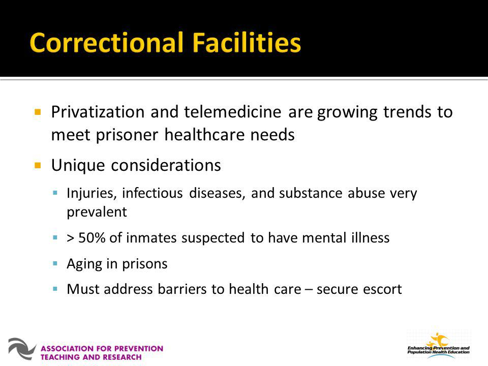 Correctional Facilities