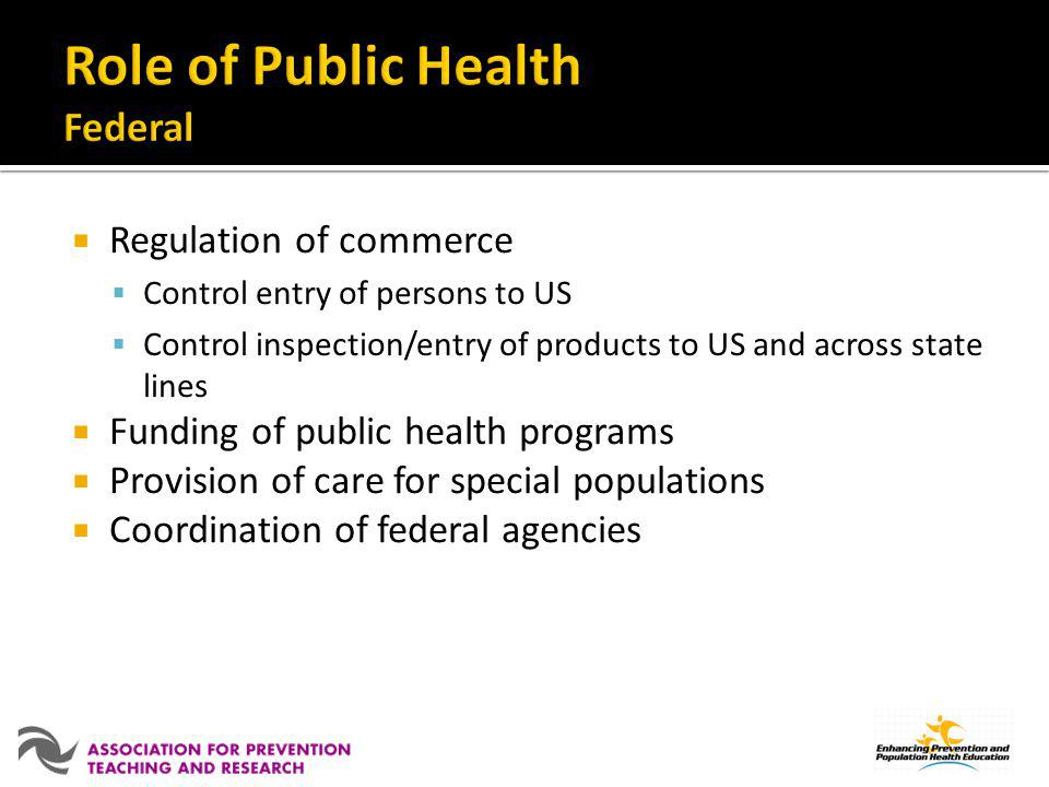 Role of Public Health Federal