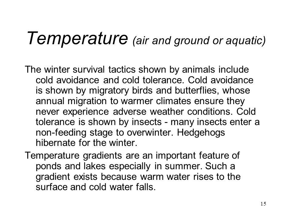 Temperature (air and ground or aquatic)