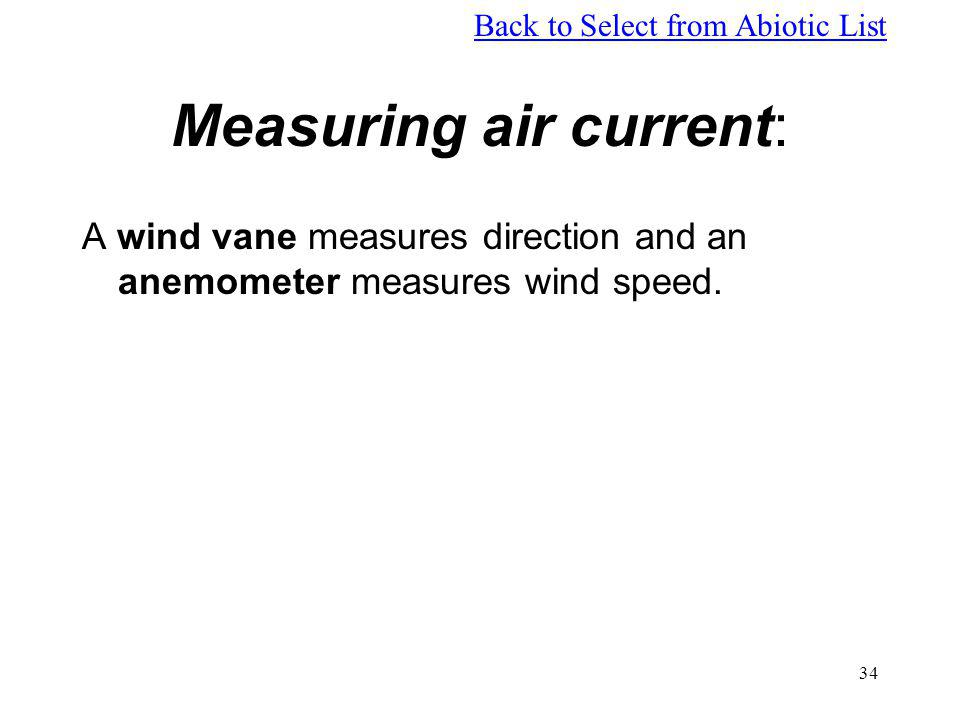 Measuring air current:
