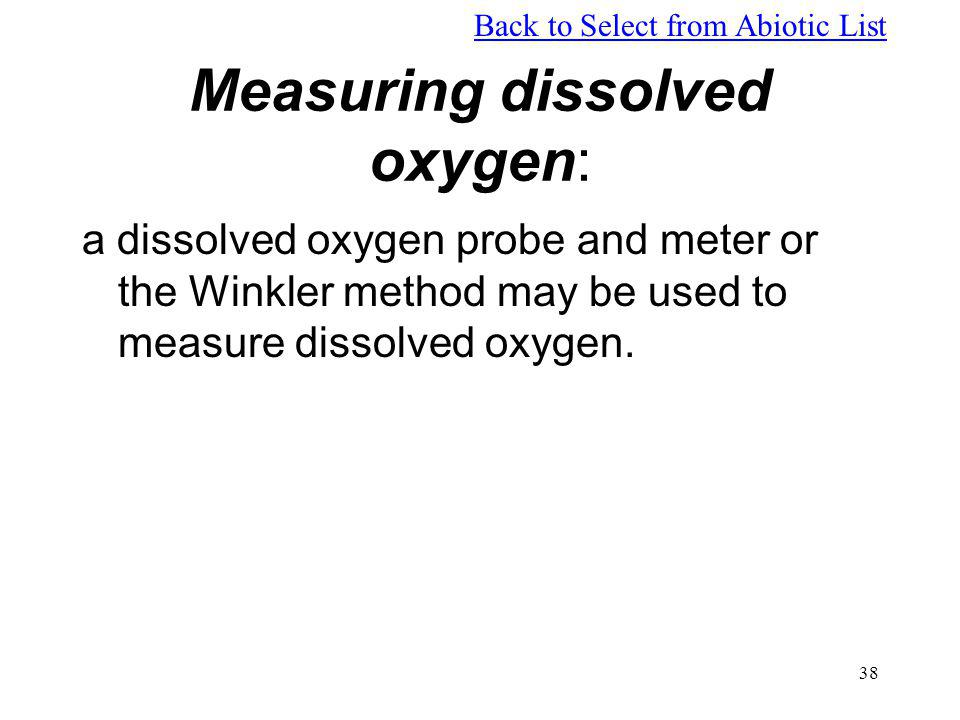 Measuring dissolved oxygen: