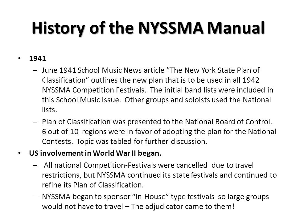Everything you need to know about the new nyssma manual and more.
