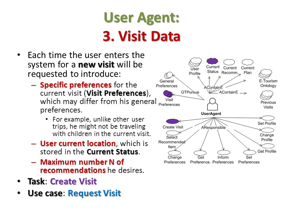 User Agent: 3. Visit Data Each time the user enters the system for a new visit will be requested to introduce: