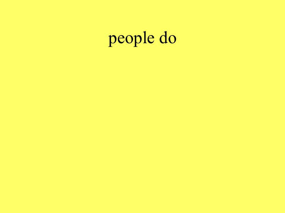people do