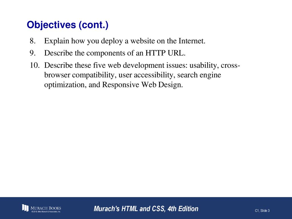 Introduction To Web Development Murach S Html And Css 4th Edition Ppt Download