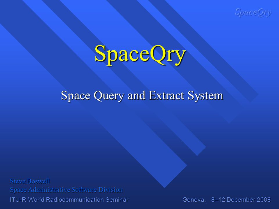 Space Query and Extract System