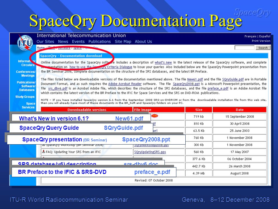 SpaceQry Documentation Page