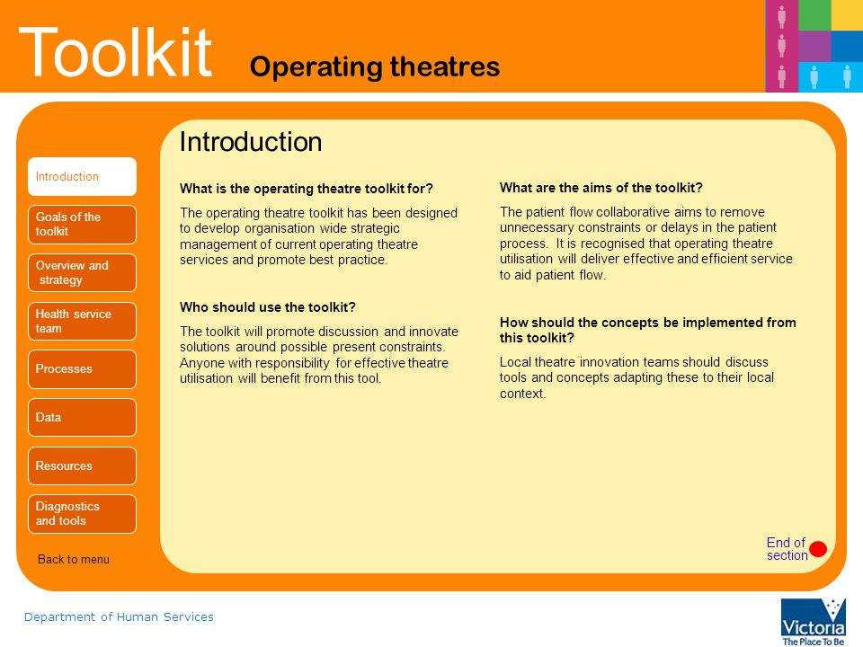 Introduction What is the operating theatre toolkit for