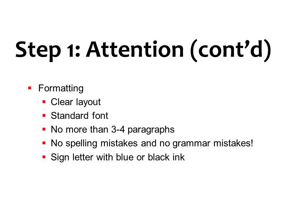 Step 1: Attention (cont'd)