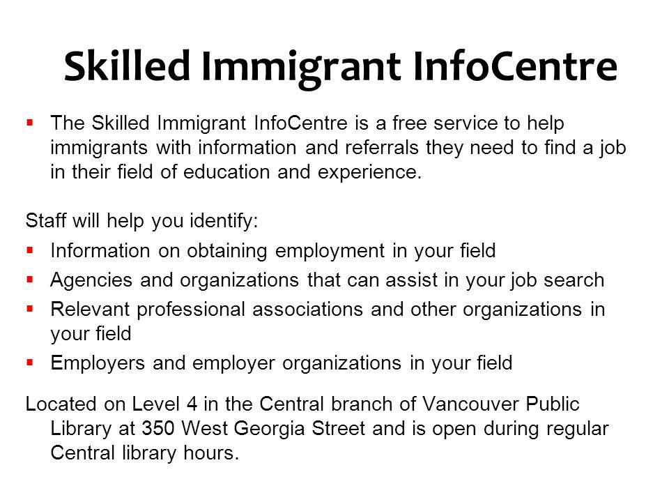Skilled Immigrant InfoCentre