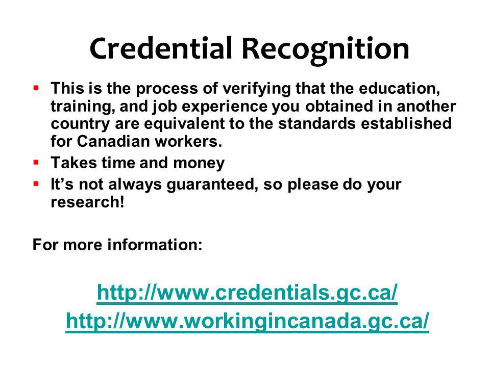 Credential Recognition