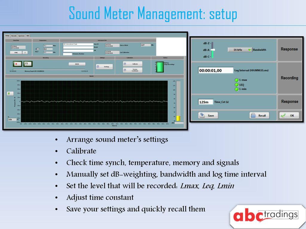 ABC Wireless Sound Level Meter - ppt download