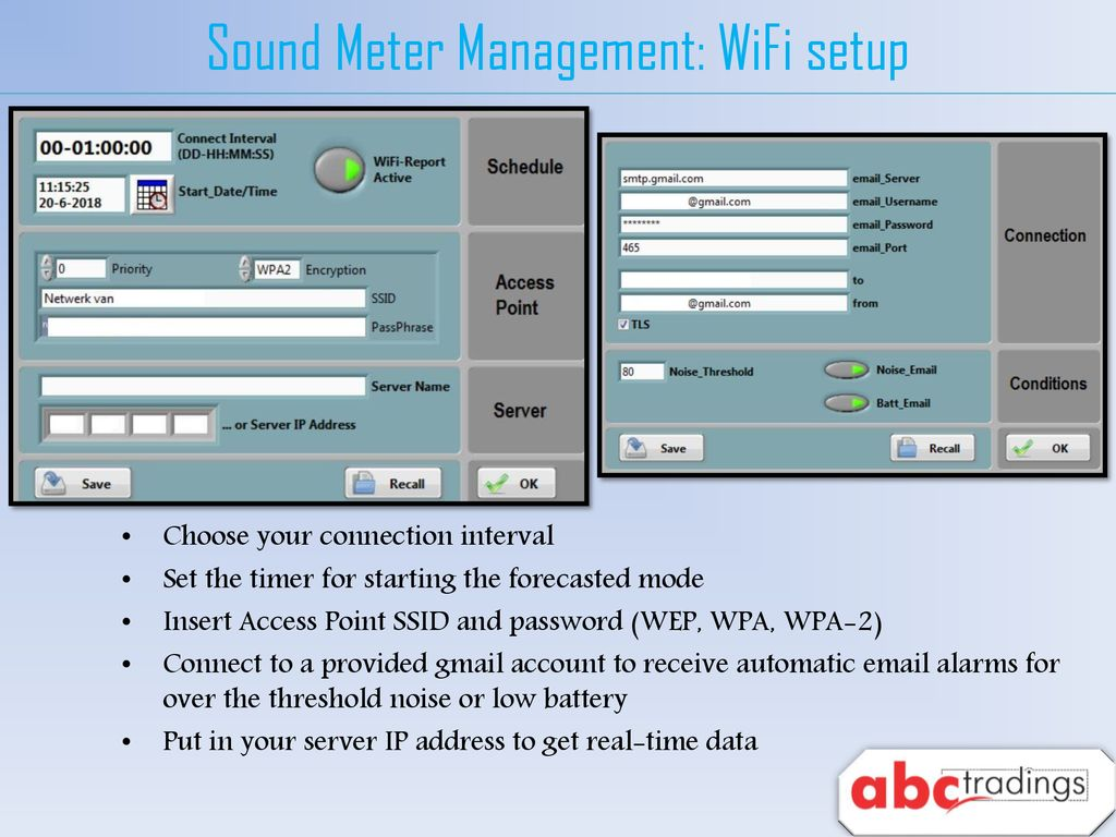 ABC Wireless Sound Level Meter - ppt download