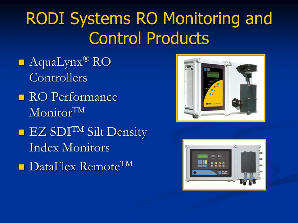 RODI Systems RO Monitoring and Control Products