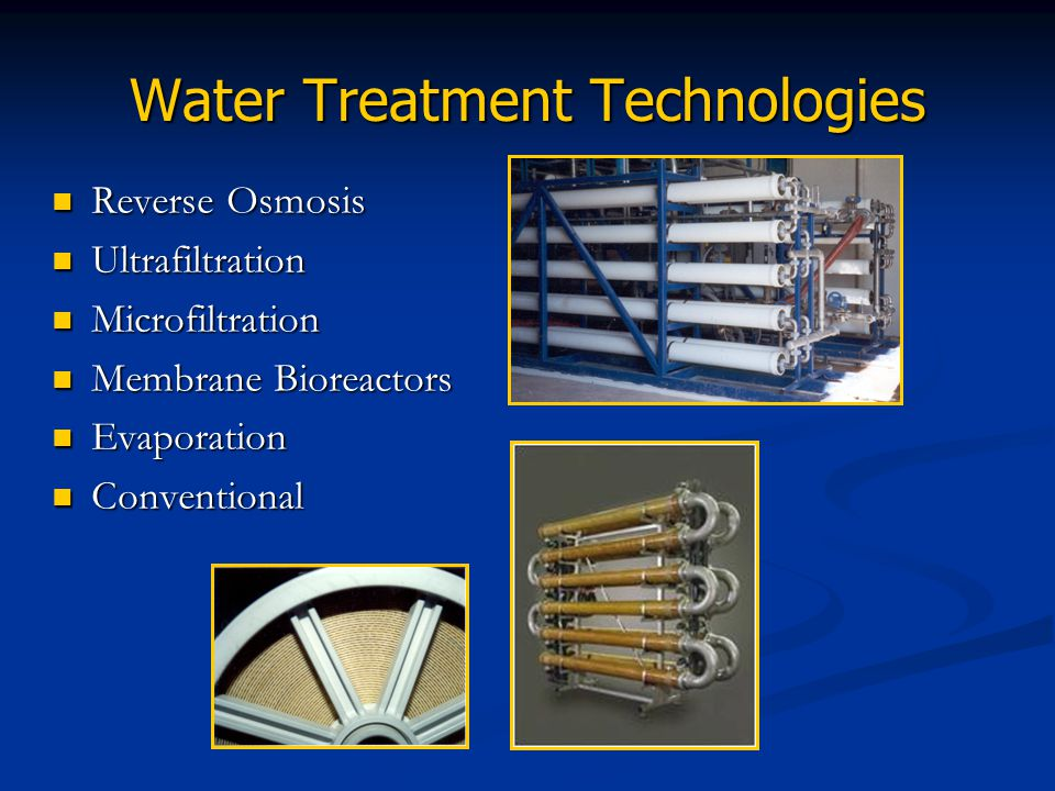 Water Treatment Technologies