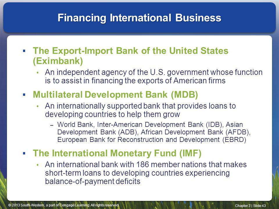 Financing International Business