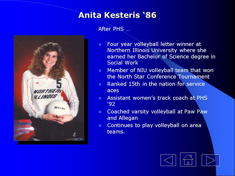 Anita Kesteris '86 After PHS …