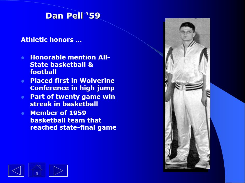 Dan Pell '59 Athletic honors …
