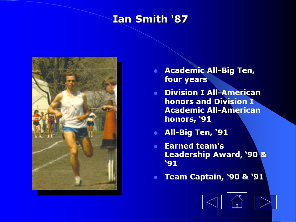 Ian Smith 87 Academic All-Big Ten, four years