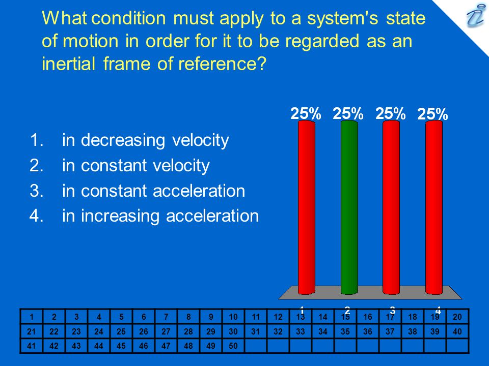 What condition must apply to a system s state of motion in order for it to be regarded as an inertial frame of reference
