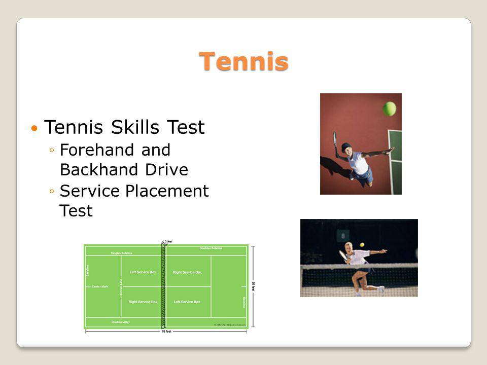 Tennis Tennis Skills Test Forehand and Backhand Drive