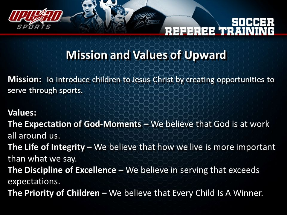 Mission and Values of Upward
