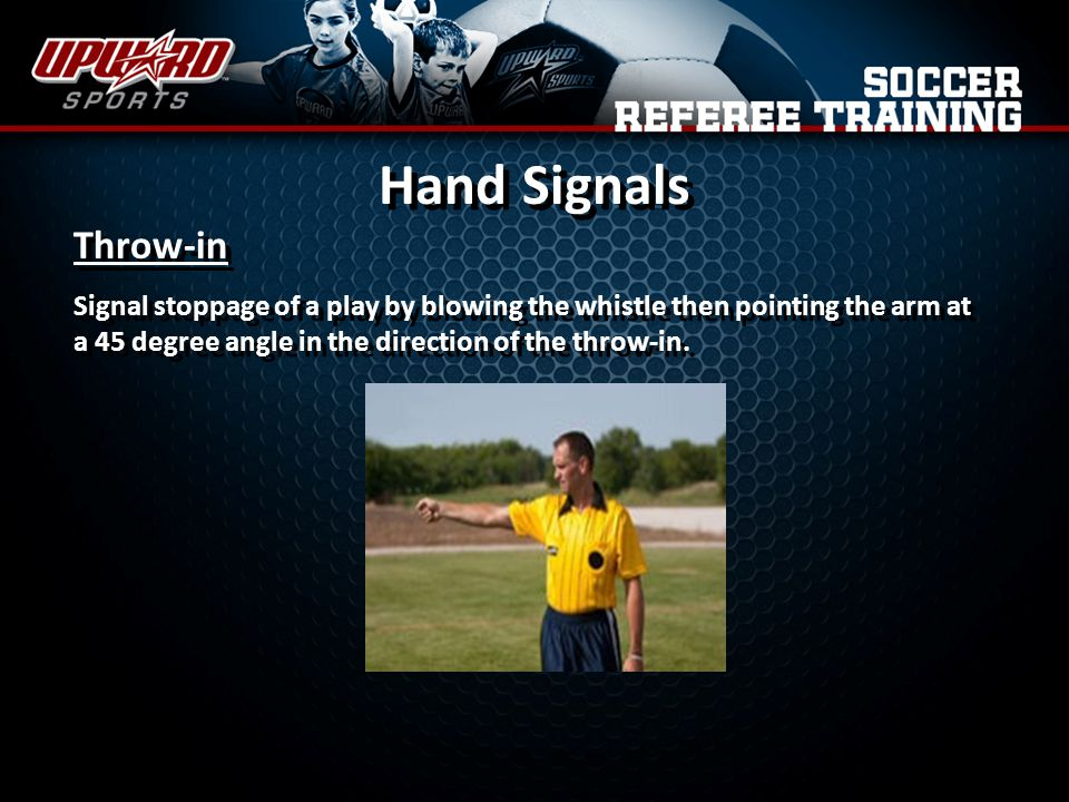 Hand Signals Throw-in.