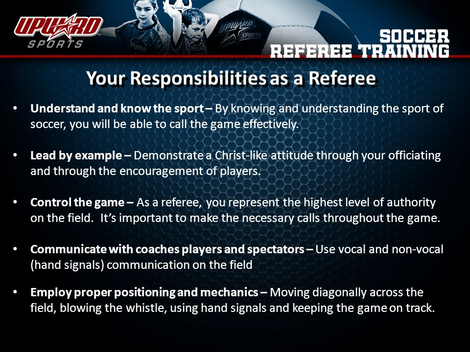 Your Responsibilities as a Referee
