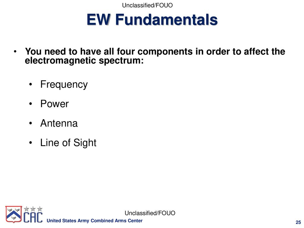 Electronic Warfare (EW) for New Officers - ppt download