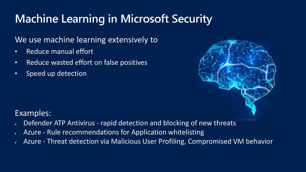 Machine Learning in Microsoft Security