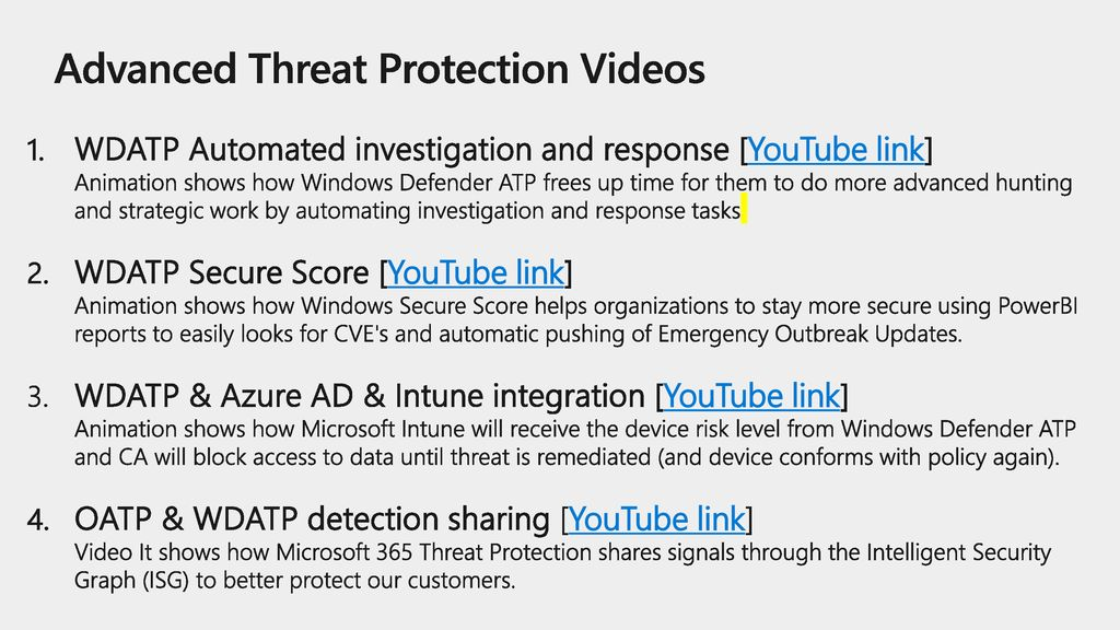 Advanced Threat Protection Videos