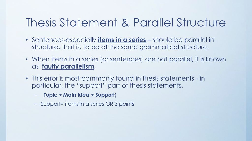 What is faulty parallelism?
