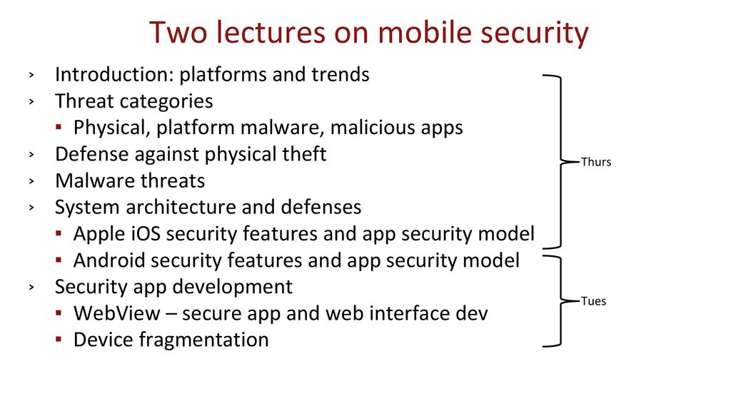 Mobile Device and Platform Security – Part II - ppt download