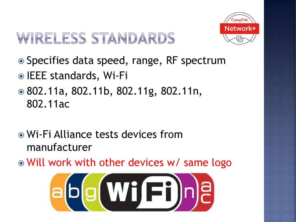 Wireless networking Chapter days including test  - ppt download