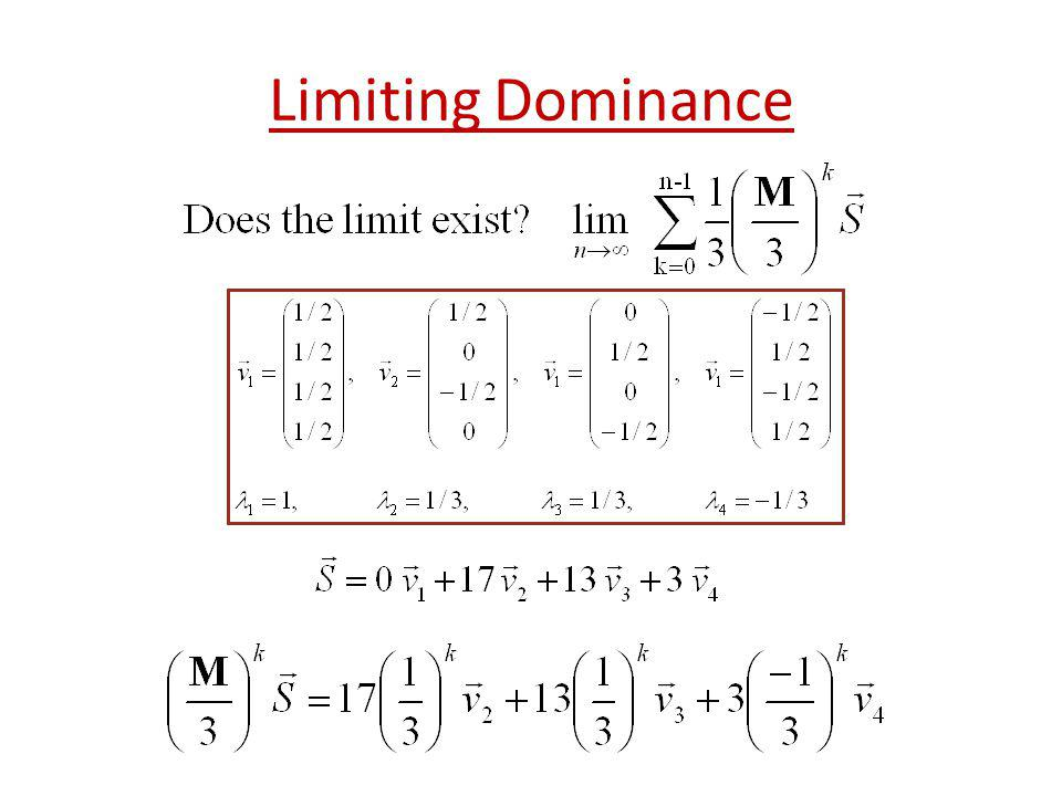 Limiting Dominance