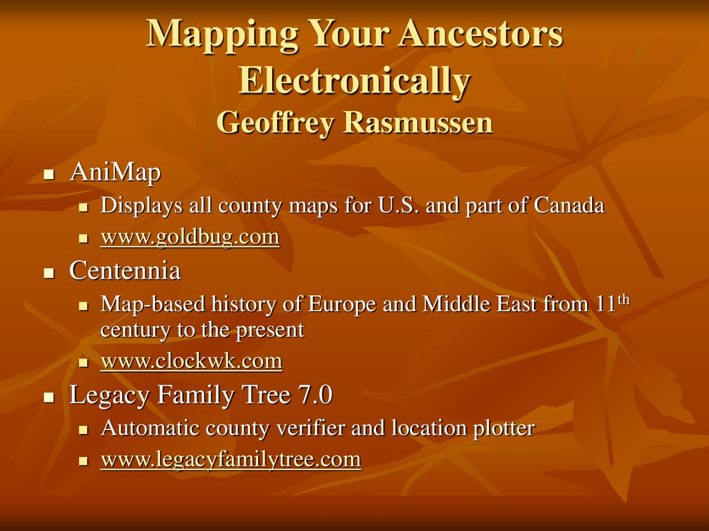 Don Ferrett OLLI at Mason - Genealogy Club 17 September ppt download