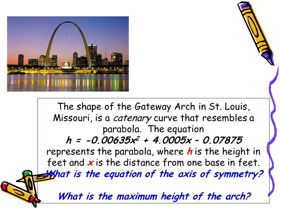 The shape of the Gateway Arch in St